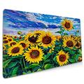 OcuteO XXL Mouse Pad Oil Painting Landscape Sunflowers Gaming Mouse Pad, Mouse Pad for Women, Extended Mouse Pad, Keyboard Mouse Pad, Long Mouse Pad, Laptop Mouse Pad, 35.5 x 15.7 Mouse Pad Non-Slip