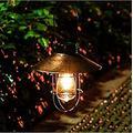 Solar Lantern Outdoor Hanging, Individual Hanging Solar Globe Lights Outdoor, Street Vintage Outdoor Garden LEDs Bulb Solar lamp Post Light Lawn, Solar Lanterns with Rope Handle (1pcs)