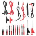 Voupuoda 21pcs Test l-ead Probe Kit Test Probes for Multimeter with Alligator Clips Replaceable Probes Pins Multifunctional Accessories Kit