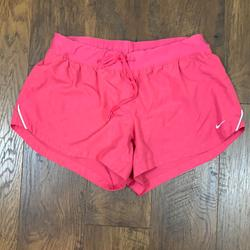 Nike Shorts   Nike Dri-Fit Pink Running Shorts   Color: Pink/Silver   Size: L