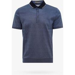 Polo Shirt - Blue - Corneliani T-Shirts