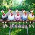 Funny Chicken Garden Statues Rooster Garden Sculptures Outdoor, Chicken Garden Ornaments Outdoor Indoor Desk Decoration, Resin Chicken Garden Sculptures & Statues Home Office Yard (5 Chicken)