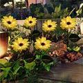 Sunflower Solar Garden Lights -2 Pack/4 Pack 8 LED Solar Lights Outdoor Decor Waterproof Decorative LED Solar Lights Outdoor Decorative for Patio Lawn Garden Yard Pathway Decoration (2 Pack)