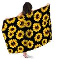Beautiful Sunflower Pattern Sarong Wraps for Women Beach Swimsuit Cover Up Plus Size Pareo Pool Party Shawl Wrap Skirt Scarf for Swimming Vacation Pool