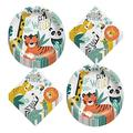 Get Wild Jungle Safari Animals Paper Dinner Plates and Lunch Napkins (Serves 16)