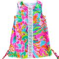 Lilly Pulitzer Dresses | Lilly Pulitzer Dress- Size 4 Lilly Pulitzer Shift | Color: Green/Pink | Size: 4g