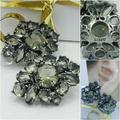 J. Crew Jewelry   J Crew, Crystal Cluster Vintage Earrings   Color: Green/Silver   Size: Os