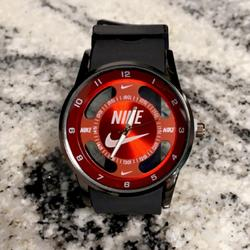 Nike Accessories | Nike Watch -Red Hollow Sports Analog Wristwatch | Color: Black/Red | Size: Various