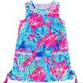 Lilly Pulitzer Dresses | Lilly Pulitzer Dress, Girls Lilly Pulitzer Shift | Color: Green/Pink | Size: 4g