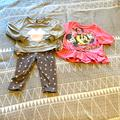 Disney Matching Sets | Mini Mouse Set And Mini Mouse Shirt | Color: Gray/Pink | Size: 12mb