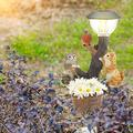 Garden Solar Lights , Outdoor Decorative Resin Animal Solar LED Lights ,Climbing Garden Statue,Garden Patio Gardening Decorative Animal Lights for Garden Lawn Pathway Yard Decortions(Kitten)
