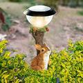 Garden Solar Lights , Outdoor Decorative Resin Animal Solar LED Lights ,Climbing Garden Statue,Garden Patio Gardening Decorative Animal Lights for Garden Lawn Pathway Yard Decortions(Rabbit)