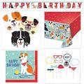 Dog Theme Birthday Party Kit 16 Plates, 16 Napkins, Table Cover, Photo Props, Birthday Banner, Grandma Olive's Recipe