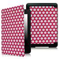 Fintie Case for Amazon Kindle Paperwhite, [Blade Series] PU Leather Cover with Auto Wake / Sleep, PolkaDot Pink