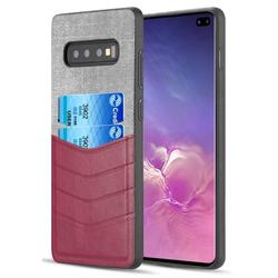 Case for Galaxy S10 Plus, Nakedcellphone Flexible TPU Wallet Cover Rugged Canvas Skin [with Credit Card ID Slots] for Samsung Galaxy S10 Plus Phone (SM-G975) s10+