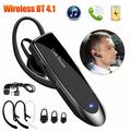 Bluetooth Earpiece V5.0 Wireless Handsfree Headset 24 Hrs Driving Headset 60 Days Standby Time With Noise Cancelling Mic Headsetcase for iPhone Android Samsung Laptop Trucker Driver -Black
