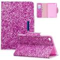 iPad mini 4 Case, iPad mini 2 3 Case, Allytech PU Leather Colorful Pattern Stand Folio Smart Cover Auto Sleep Wake Shockproof Cards Holder Wallet Case Cover for Apple iPad mini 1 2 3 4, Purple Sand
