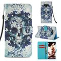 Galaxy Note 9 Case, Note 9 Case, Allytech 3D PU Leather Protective Cover & Pocket Lanyard Wallet with Cards Holder, Support Kickstand Slim Case for Samsung Galaxy Note 9, Skull