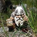 FMOGE Viking Victor Norse Garden Gnome Statue/Resin Dwarf Garden Figures Figurines Yard Art Decorations Naughty Art Sculptures Ornaments/Dwarf Statues for Lawn Indoor Home-A