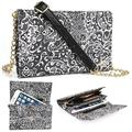 Timeless Black Paisley Weekender Crossbody Bag For Samsung Galaxy Note 5 [Slim Fit] Note II 2, Note III 3, 3 Neo LTE+ Note 4, Note Edge Phone Cases and Covers