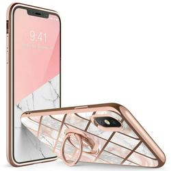 i-Blason Cosmo Snap Case Designed for iPhone Xs Max (2018 Release), Slim with Built-in 360° Rotatable Ring Holder Kickstand Supports Car Mount (Marble)