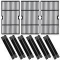 Grill Valueparts Parts for Nexgrill 720-0896B 720-0896 720-0898 720-0896E Replacement Parts, 720-0896B 720-0896 Cooking Grate Cooking Grid, 720-0896B 720-0896 Heat Shields Flame Tamer Heat Plate