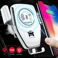 Wireless Car Charger Mount,10W Qi Fast Charging Auto-Clamping Car Mount Auto-Clamp Qi Fast Charging Windshield Dashboard & Vent Car Phone Holder for Galaxy &iPhone 11/11 Pro Max/XR/Xs Max/X