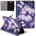 """Galaxy Tab A 8.0"""" T350 Case 2015 Released [Not for T380/T387], Allytech PU Leather Slim Fit 3D Pattern Folio Stand Smart Case Auto Sleep Wake Cover for Samsung Galaxy Tab A 8.0 T350, Purple Butterfly"""