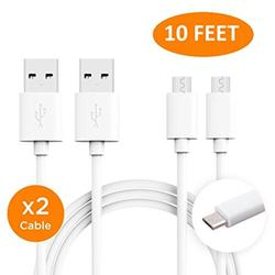 LG X power Charger (10 FEET) Micro USB 2.0 Cable Kit by TruWire - {Wall Charger + Car Charger + 2 Cable} True Digital Adaptive Fast Charging uses dual voltages for up to 50% faster charging!