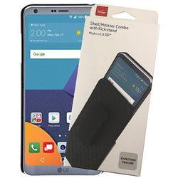 Case with Clip for LG G6, Verizon OEM Original Black [Kickstand] Hard Shell Cover + Belt Hip Holster for LG G6 LG G6+ LG G6 Plus (LG VS988, LS993, H872, H870, H871, H872, US997)