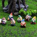 FMOGE Miniature Garden Gnome Statue Home Decor Dollhouse Elf Sculpture Accessories/Fairy Dwarf Outdoor Statue Landscape Garden Figures Figurines Ornaments-Dwarves Sculpture One Size