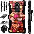 WORLD ACC LuxGuard Phone Case Cover Compatible with LG Aristo 4 Plus LG Prime 2 (Chocolate Hearts)