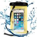 Waterproof Case Smartphone Dry Pouch (Yellow) w/ Neck Lanyard - Compatible w/ iPhone XR/XS/X/8 Galaxy S10/S9/S8 Pixel 3 OnePlus Huawei LG Sony, Phones up to 6� Great for Swim Pool Beach Bath Travel
