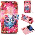 """Galaxy S7 Case, Galaxy S7 Kids Case, Allytech [3D Painted] PU Leather Magnetic Folio Cover & Credit Card Slots Pocket, Support Kickstand Slim Case for Samsung Galaxy S7 (5.1"""") (Pink Flower Owl)"""