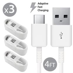 3 Pack Afflux USB Type C USB-C Fast Charging Cable USB-C 3.1 Data Sync Charger Cord For Samsung Galaxy S8 S8+ S9 S9+ Galaxy Note 8 9 Nexus 5X 6P OnePlus 3t 5 5t LG G5 G6 V20 V30 Google Pixel 2 2XL 4FT