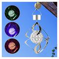 Vases Solar Wind Chimes for Outside LED Solar Wind Turn Light Colors Changing Waterproof LED Solar Light Solar Wind Spinners Hanging Solar Wind Chime Lamp for Outdoor Garden Patio Yard Decor