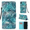 iPhone Xs Case, iPhone X Case, Allytech Smart Crystal Rhinestone Wallet Case with Card Slots Slim PU Leather Folio Flip Kickstand Case Cover for iPhone Xs/ iPhone X 5.8-inch Phone,Banana Leaf