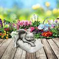 FMOGE Angel Pet Lawn Decor Statues for Patio Yard Backyard/Sleeping Angel Cat Animals Statues Memorial Outdoor Statue Art Sculptures/Resin Garden Figures Cat Figurines-Angel cat