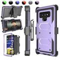 """Njjex Case For 2018 Galaxy Note 9 6.4"""", Galaxy Note 9 Case Holster Blet Clip, Njjex [Purple] Heavy Duty Protection Kickstand + Holster Belt Clip Carrying Armor Case Cover Galaxy Note 9 (2018)"""
