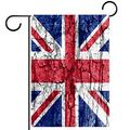 YATELI Garden Yard Flag 28x40 inch UK Flag Wall Double-Sided Banner for House Home Outdoor Party Decor