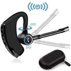 AGOZ Bluetooth Headset Wireless Headphone Noise Cancelling Earbud For iPhone 12 11 Pro XS Max XR X 8 PLUS, Samsung Galaxy Note 20 10 9 8, S21 S20 S10 S9 S8 A71, LG Stylo 6 5, Google Pixel, Android iOS