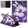 """Galaxy Tab A 9.7 Inch Case SM-T550, Allytech PU Leather 3D Pattern Slim Fit Smart Shell Auto Sleep Wake Feature Folding Stand Protective Case Cover for Samsung Galaxy Tab A 9.7"""" T550,Purple Butterfly"""