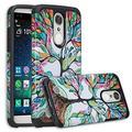 LG Aristo 2 Plus, LG Aristo 2,LG K8 Plus, LG K8 2018,LG Risio 3,LG Fortune 2,LG ,Rebel 3,LG Zone 4 Case Protective Hybrid Diamond Soft Silicone Phone Case Cover for Girls Women - Colorful Tree