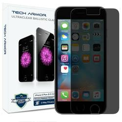 iPhone 6S Plus Glass Screen Protector, Tech Armor Privacy Ballistic Glass Apple iPhone 6S Plus / iPhone 6 Plus (5.5-inch) Screen Protectors [1-Pack]