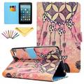 Fire 7 2015 Case, Allytech PU Leather Smart Case with Card Slots Stylus Pen Folio Cover for Amazon Kindle Fire 7.0 inch (5th Generation 2015 Release), Love Dream Catcher