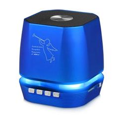 Lighting Wireless Speaker w/ FM Radio Compatible with Apple iPhone 11 Pro Max, iPhone 11 Pro, iPhone 11, iPhone Xs Max, Xs, Xs Plus, XR, X, 8, 8 Plus (Blue)