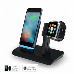 Wireless Charging Stand,2-in-1 Wireless Charger Watch and Phone 7.5W Qi Wireless Charging Dock for iPhone X/XS Max/XR/8/8 Plus,Charging Stand Holder for Apple Watch Series 2, 3, 4