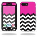 MightySkins Protective Vinyl Skin Decal for Lifeproof Nuud iPhone 7 Plus sticker wrap cover sticker skins Hot Pink Chevron