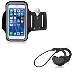 With Microphone Sports Earphones Wireless Headphones w Gym Workout Sports Running Armband E3Y for Samsung Galaxy S9 Plus S10 Plus J7 Sky Pro, S6 Edge+, Note 5 4 (2018) Refine A50 A20