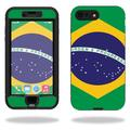 MightySkins Protective Vinyl Skin Decal for Lifeproof Nuud iPhone 7 Plus sticker wrap cover sticker skins Brazilian Flag
